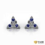 Petal Blue Sapphire Earrings