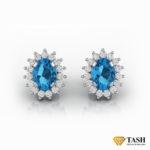 Blue Topaz Cluster Earrings