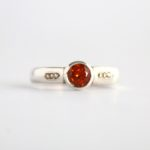 Brilliant Hessonite Garnet Ring