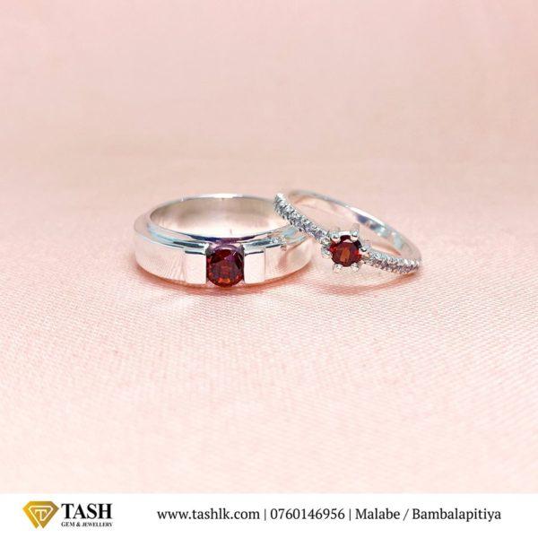 Red Garnet Couple Rings