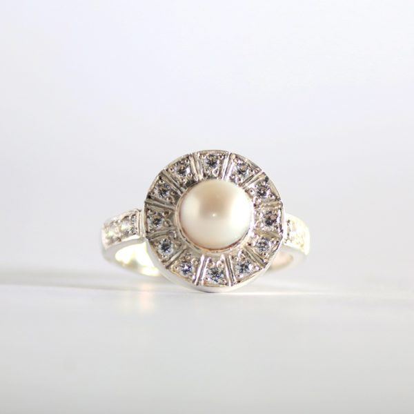 Tash Pearl Engagement Ring