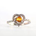 Yellow Sapphire Heart Ring 1