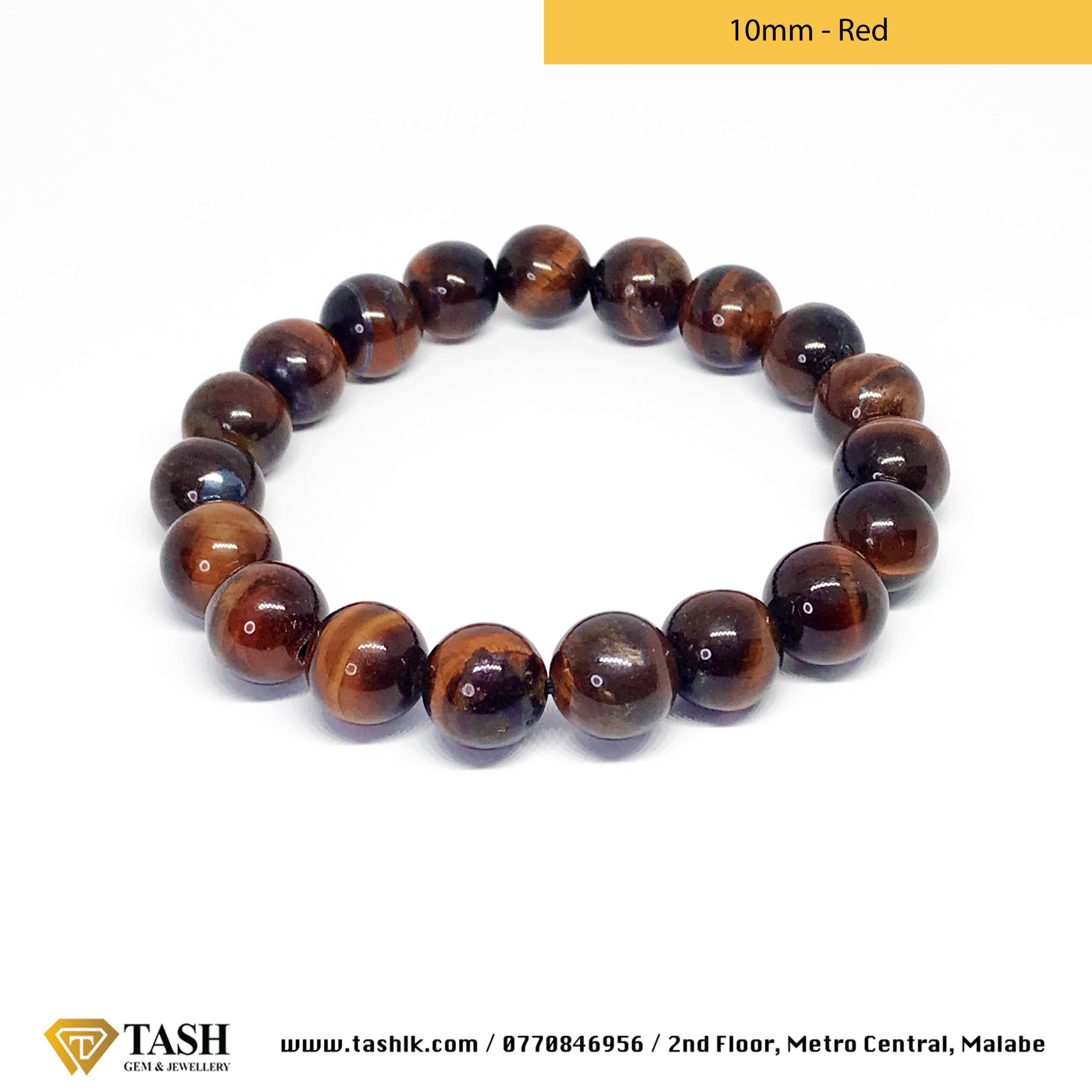 Tigers Eye Bracelet - Red