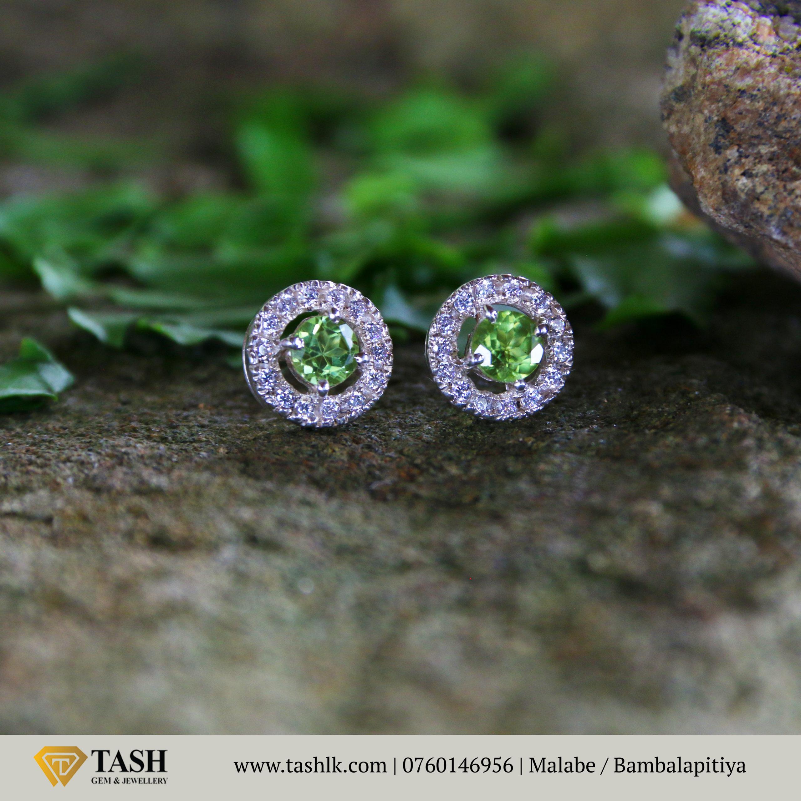 Natural Peridot Earring