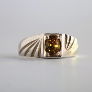 Yellow Tourmaline Ring