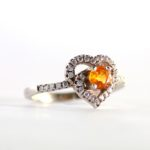 Yellow Sapphire Heart Ring 2