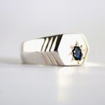 Dark blue sapphire ring for men 2
