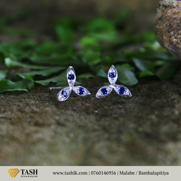 Natural Blue Sapphire Earings