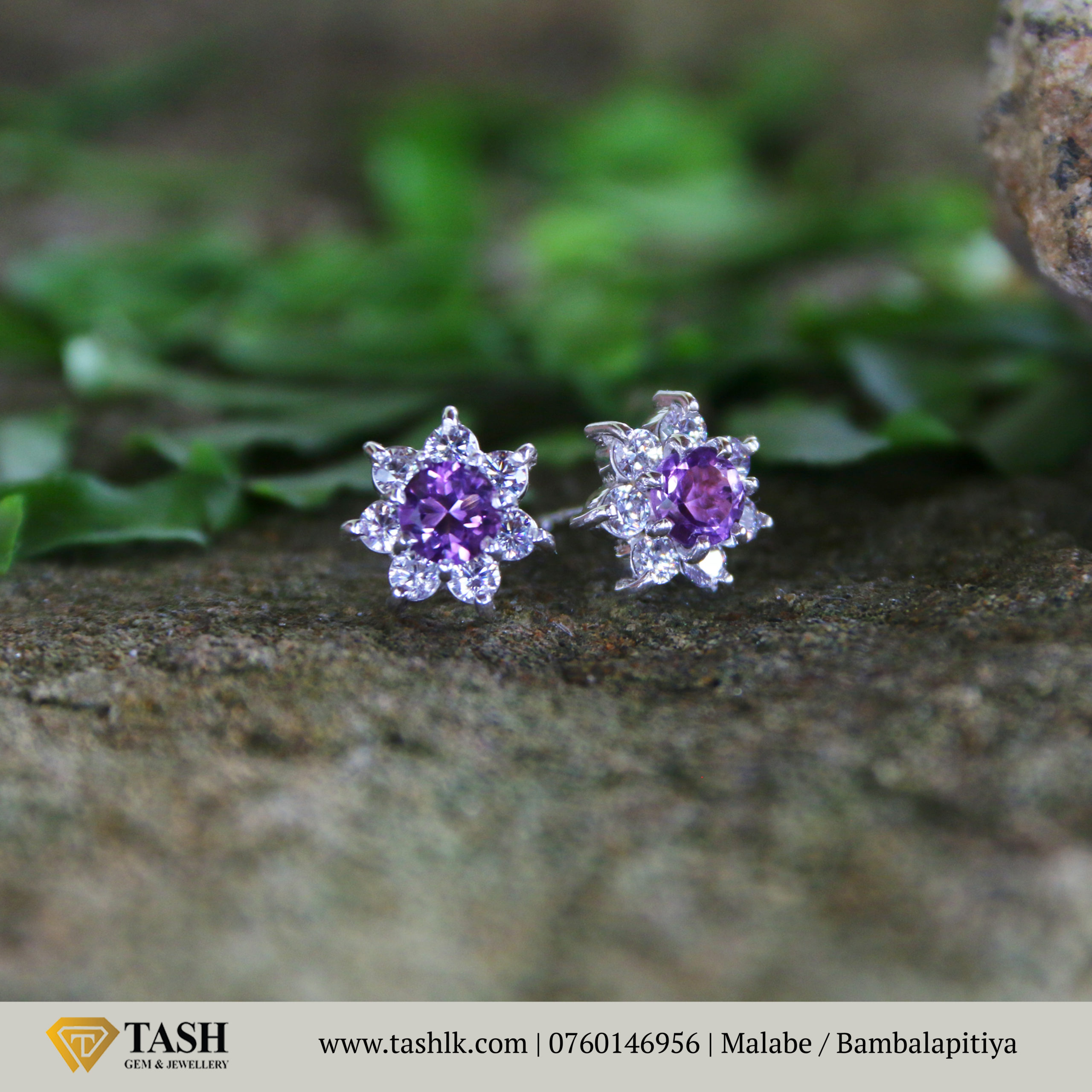 Natural Amethyst Earings