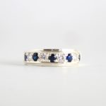 Blue Sapphire Band Ring 1