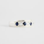 Blue Sapphire Band Ring 2