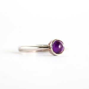 Cabochon Amethyst Ring