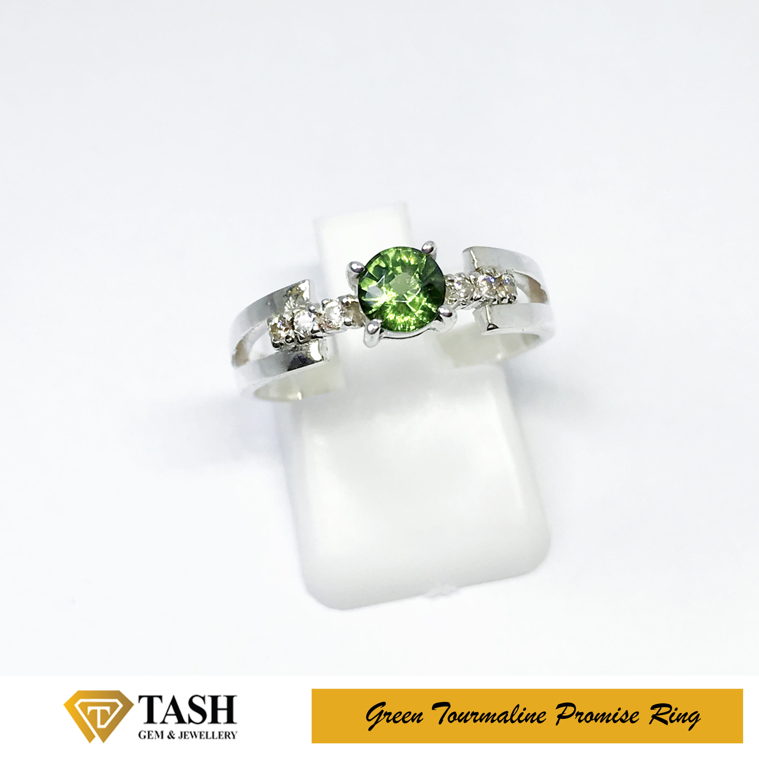 Natural Green Tourmaline Ring 1