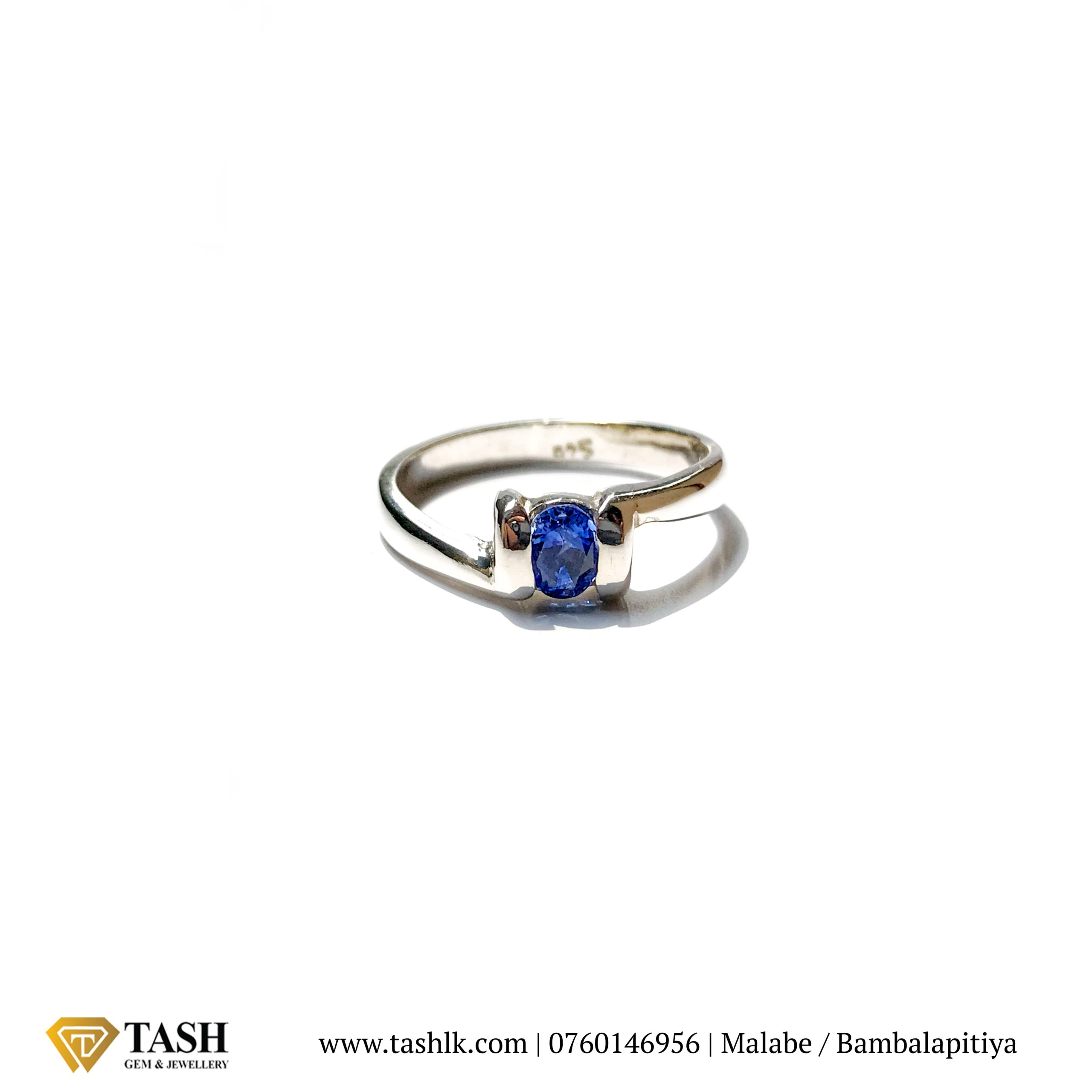 Oval Blue Sapphire Ring 1