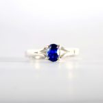 Oval Sapphire Engagement Ring 1
