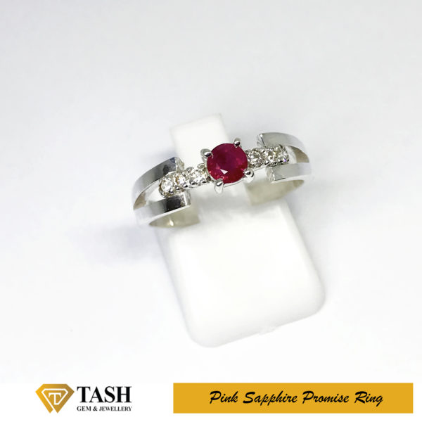 Natural Pink Sapphire Ring