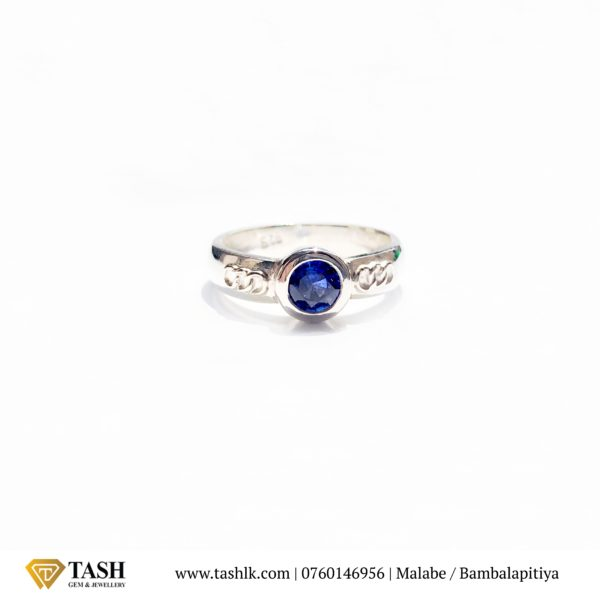 Round Olympic Blue Sapphire Ring
