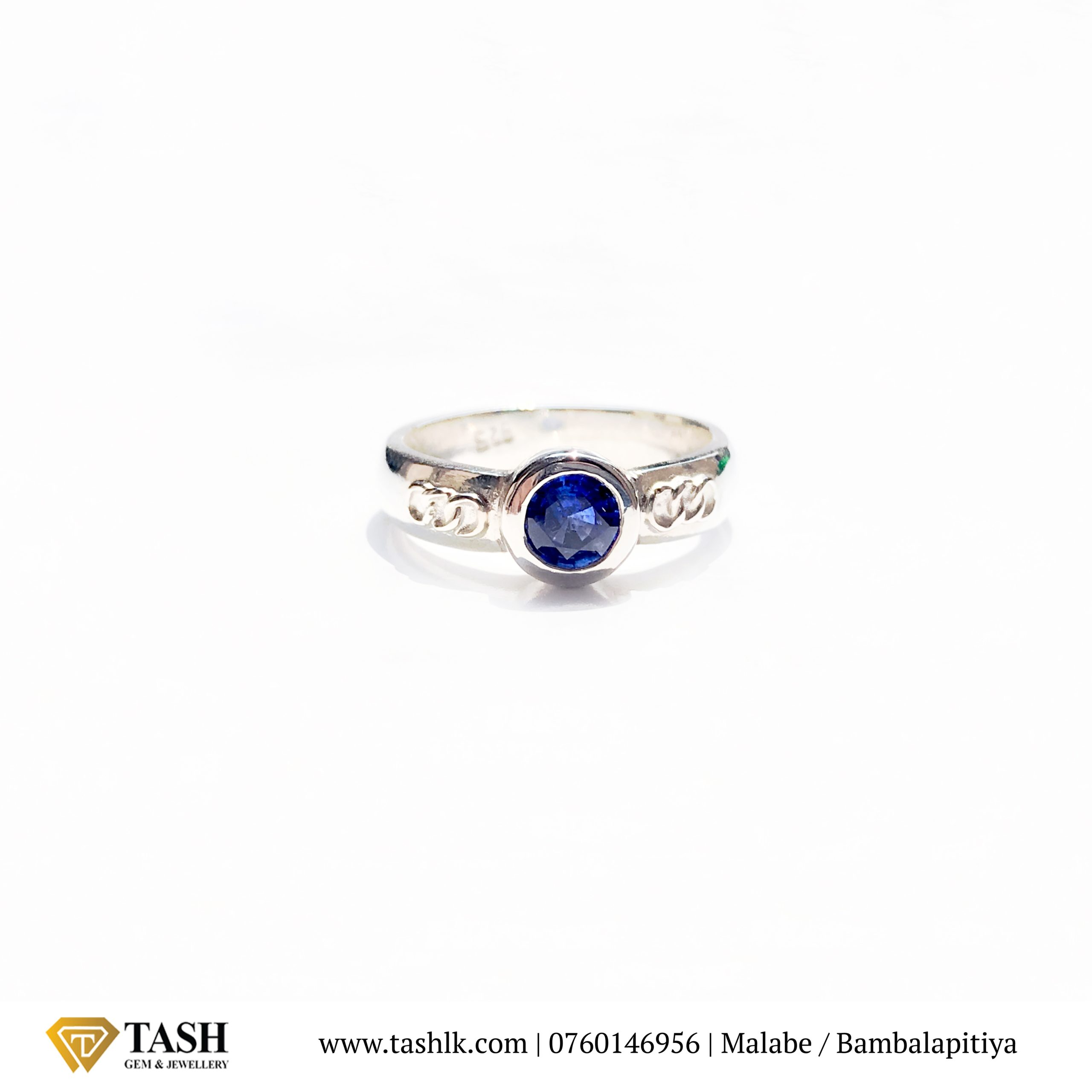 Round Olympic Blue Sapphire Ring 1