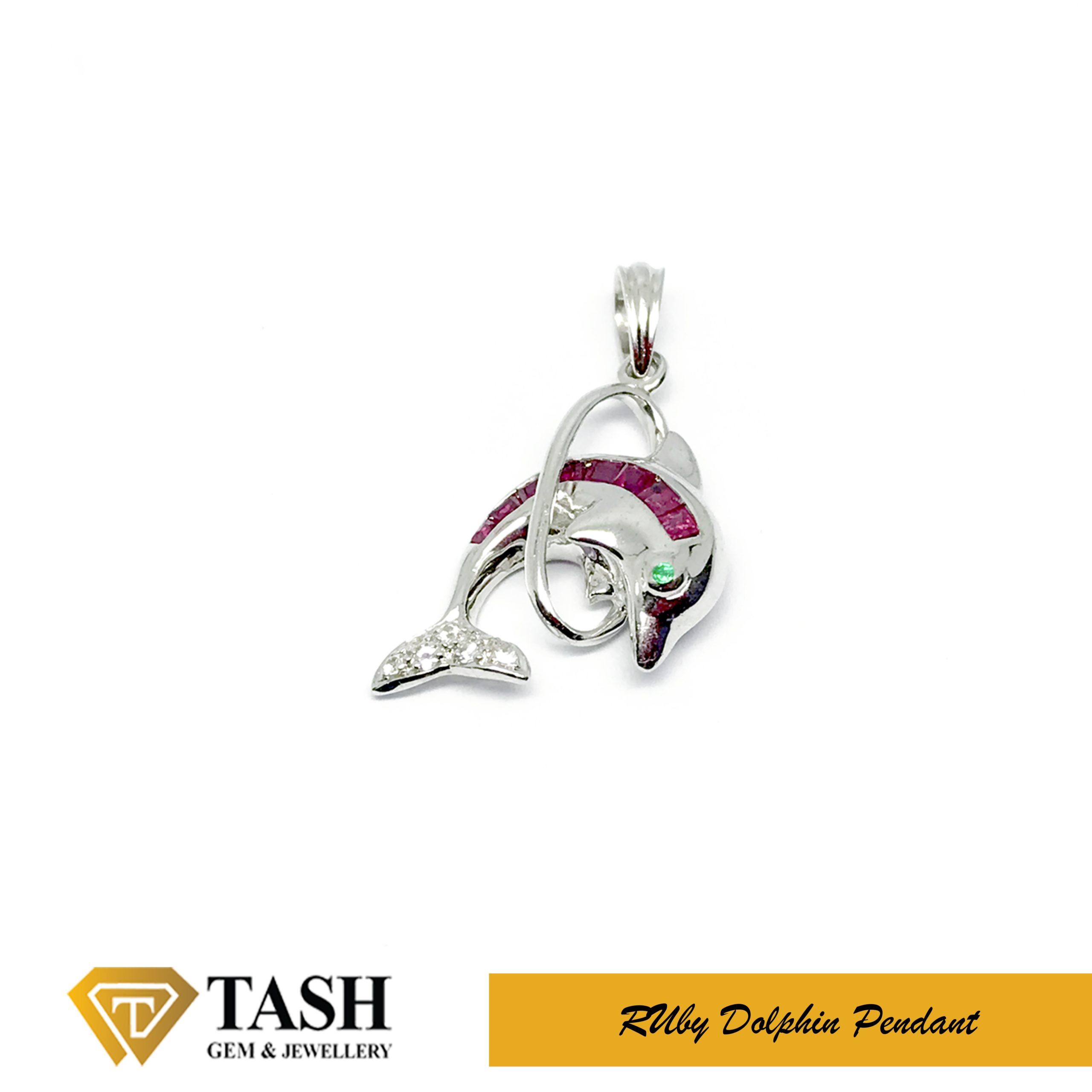 Ruby Dolphin Pendant