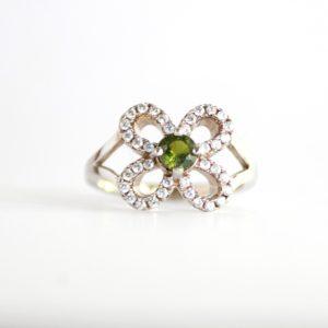 Tourmaline Flower Ring