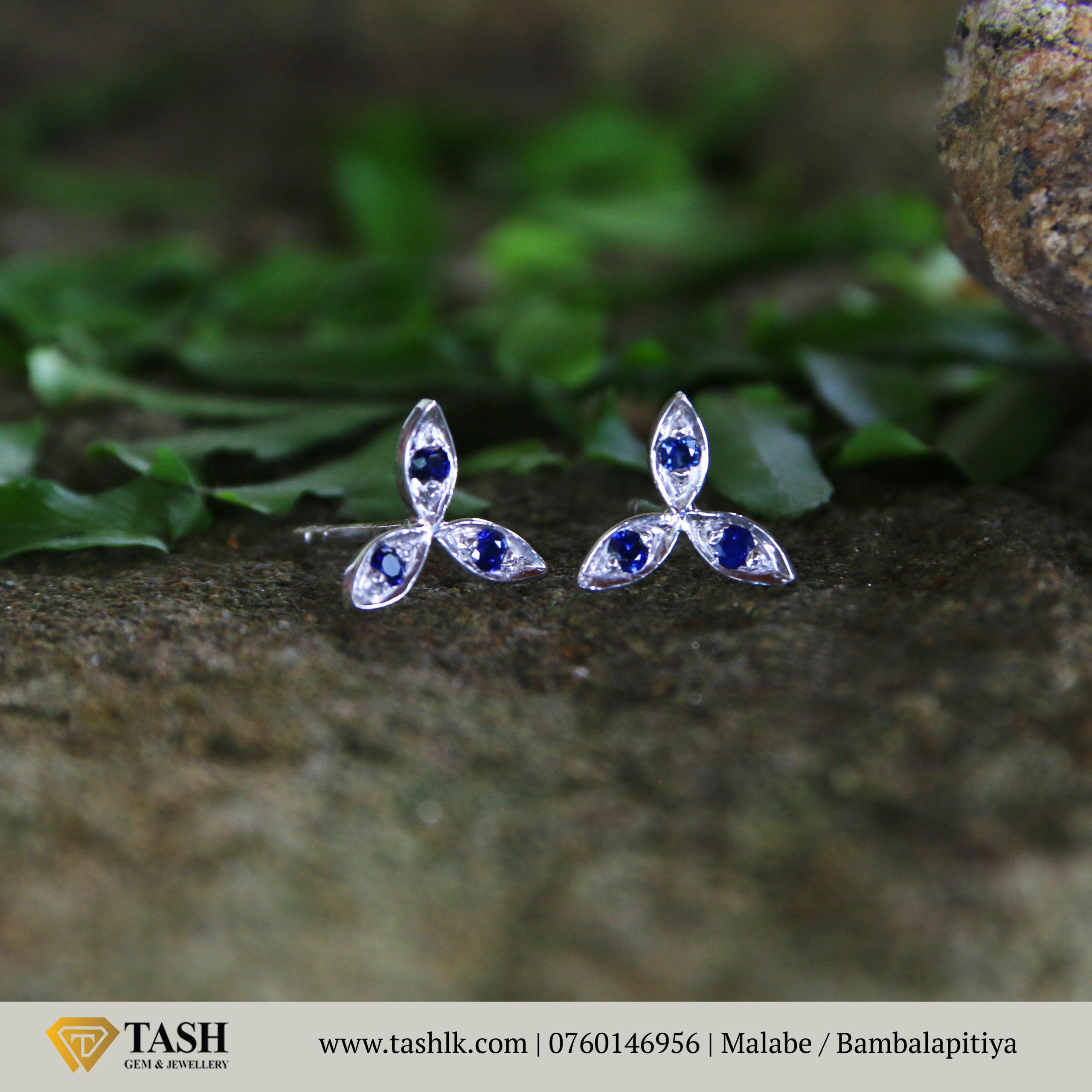 Natural Blue Sapphire Earings 1