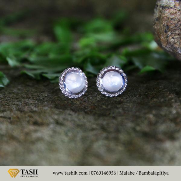 Moonstone Twisted Earring