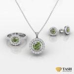 Peridot Cluster Jewelry