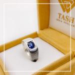 Men's Blue Sapphire ring