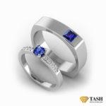 Designer Blue Sapphire Couple Rings