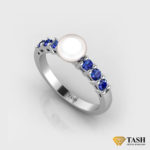 Pearl & Blue Sapphire Ring
