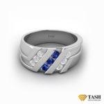Blue Sapphire Mens Ring