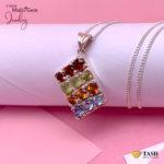 Multicolored stones pendant