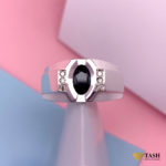 Dark Blule Sapphire gemstone ring