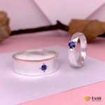 Sapphire Couple Rings