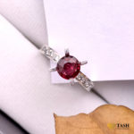 Ruby Solitaire Ring