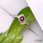 Ruby Crossover Ring