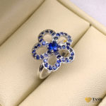 Silver Blue Sapphire Ring