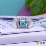 Men's Blue Topaz Ring